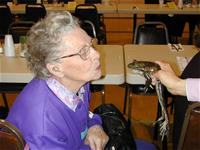 Frog and Participant in a Senior Program